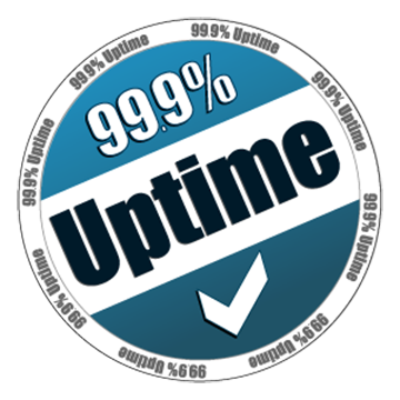 99% uptime graphic