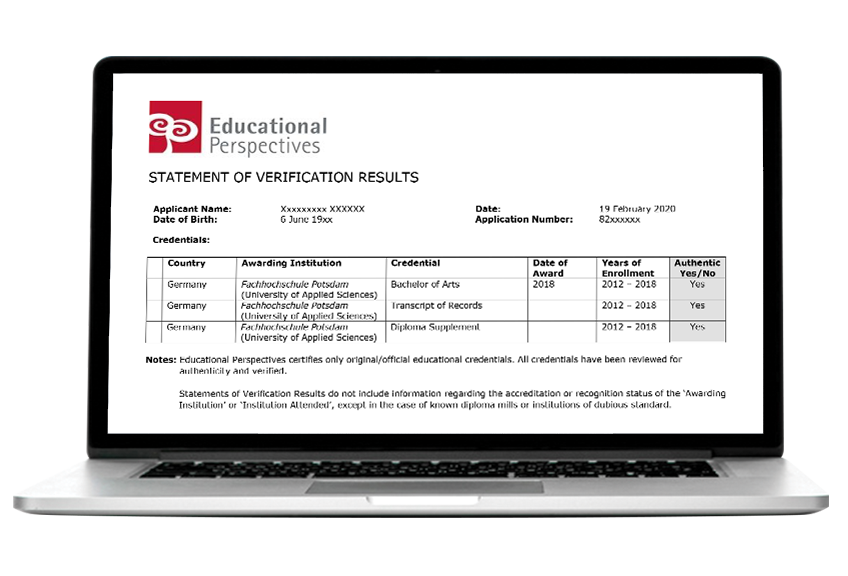 transcripts on laptop screen